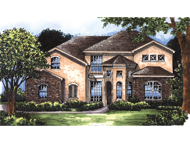 Macarthur southwestern home plan 047d 0082 house plans for Southwestern home plans