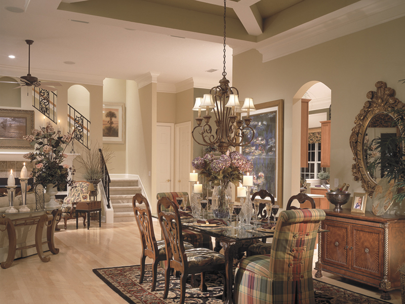 Open formal dining room creates memories.