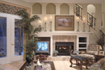 Sunbelt Home Plan Family Room Photo 01 - 047D-0083 | House Plans and More