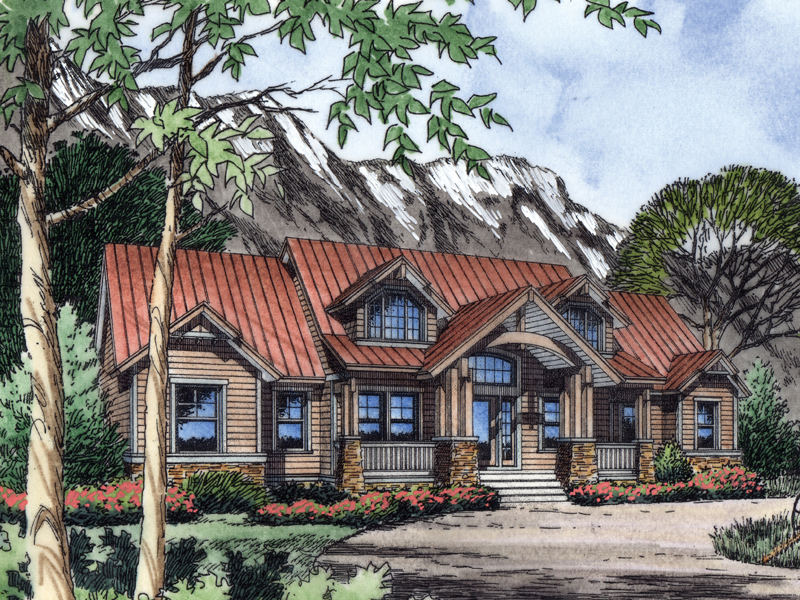Margate rustic mountain home plan 047d 0086 house plans for Rustic luxury house plans