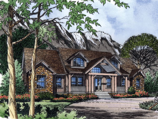 Wilder Rustic Craftsman Home Plan 047D-0087 | House Plans And More