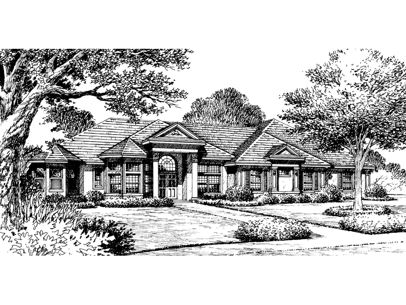 Modern House Plan Front of Home - 047D-0093 | House Plans and More