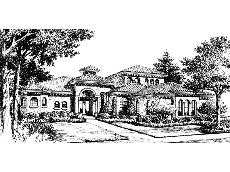 Heron Hill Luxury Spanish Home Plan 047d 0098 House