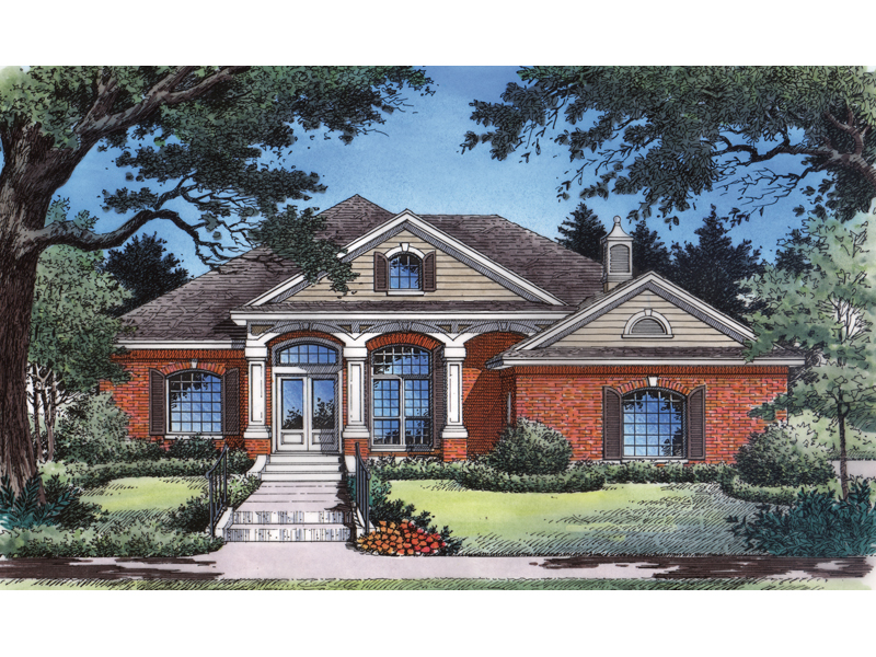 Ranch House Plan Front of Home - 047D-0115 | House Plans and More