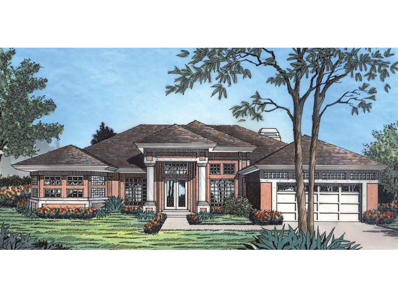 Sunbelt Home Plan Front of Home - 047D-0125 | House Plans and More