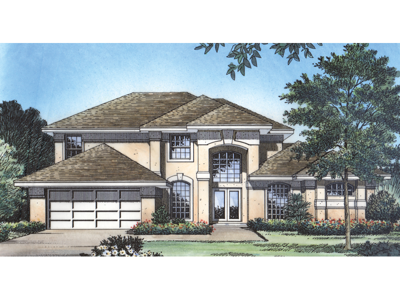Spacious Two-Story With Stucco Sunbelt Style