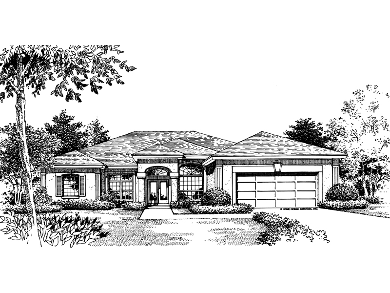 Southwestern House Plan Front of Home - 047D-0137 | House Plans and More