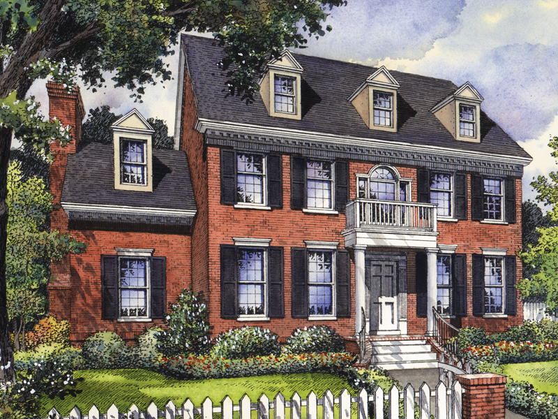 Colonial House Plan Front of Home - 047D-0139 | House Plans and More