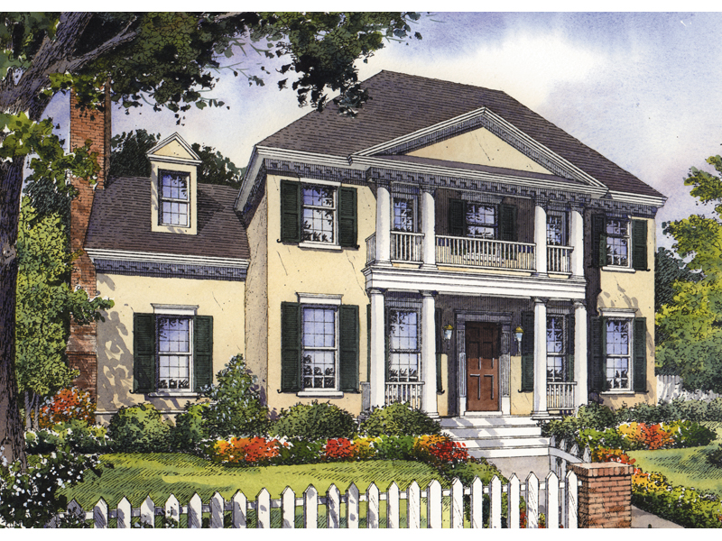 Formal Colonial Plantation Design With Subtle Georgian Style