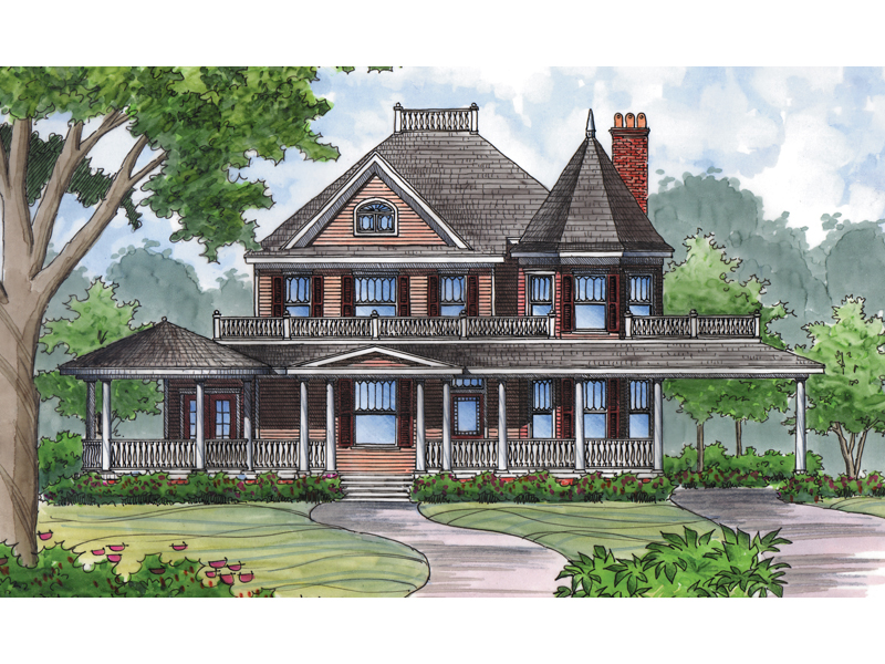 Keaton hill victorian home plan 047d 0152 house plans for Watercolor house plans