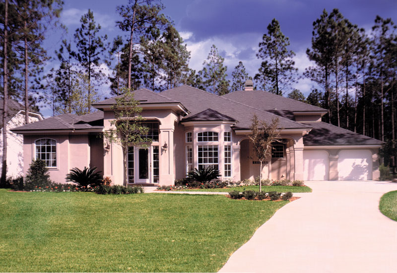 Santa Fe House Plan Front of Home - 047D-0155 | House Plans and More