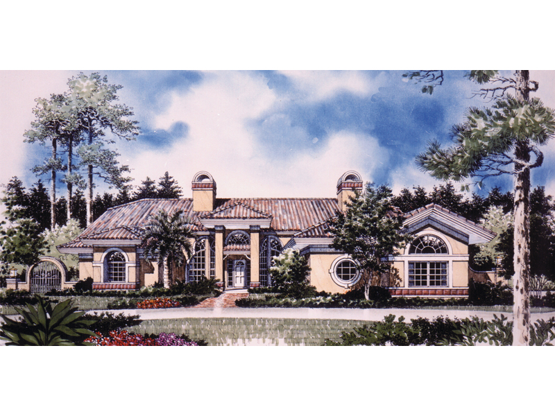 Spectacular Florida, Sunbelt Home Plan