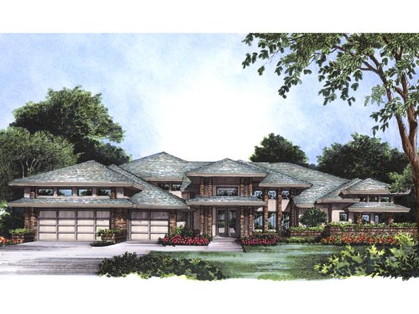 Daytona southwestern style home plan 047d 0164 house for Southwestern style home designs