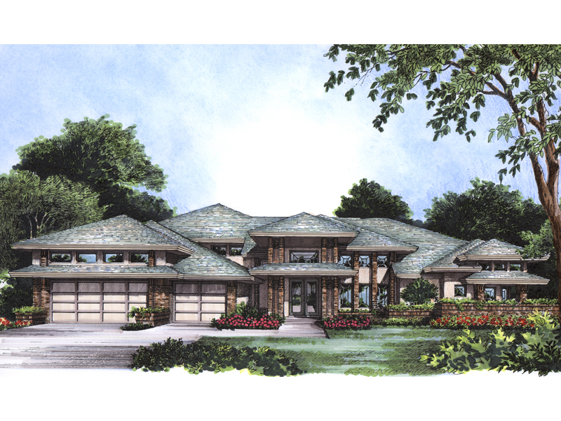 Adobe House Plans & Southwestern Home Design Front of Home - 047D-0164 | House Plans and More
