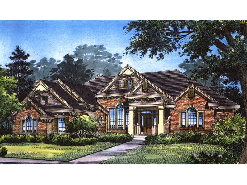 Traditional Luxury Ranch Style Home With Grand Curb Appeal