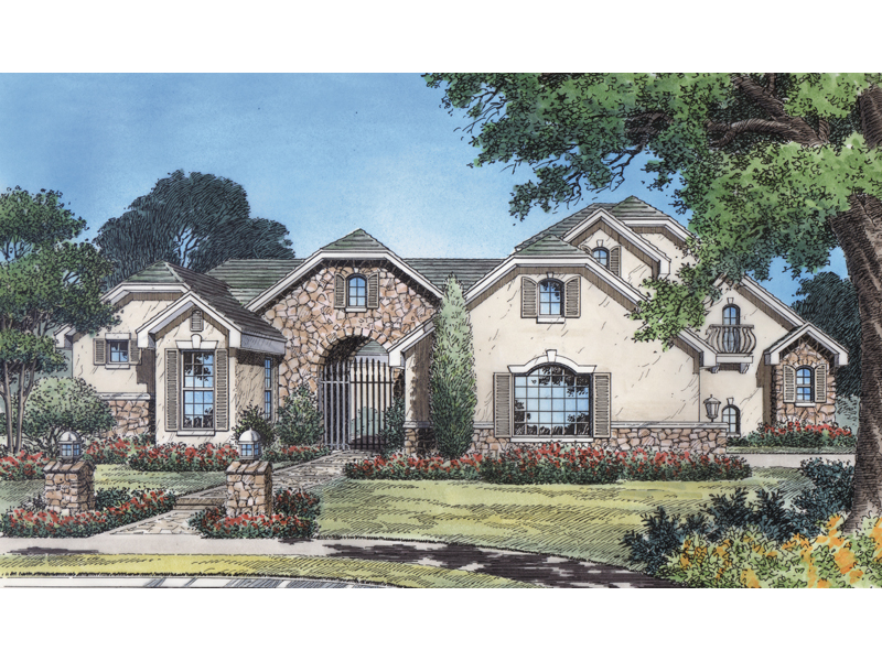 Florida House Plan Front Image 047D-0168