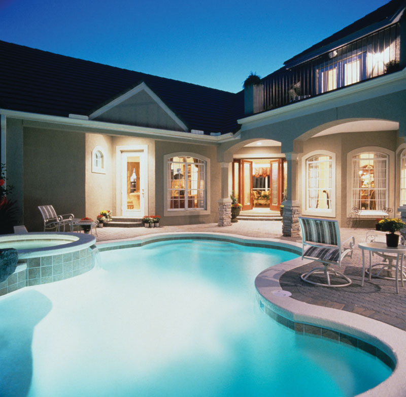 Sunbelt Home Plan Pool Photo 047D-0168