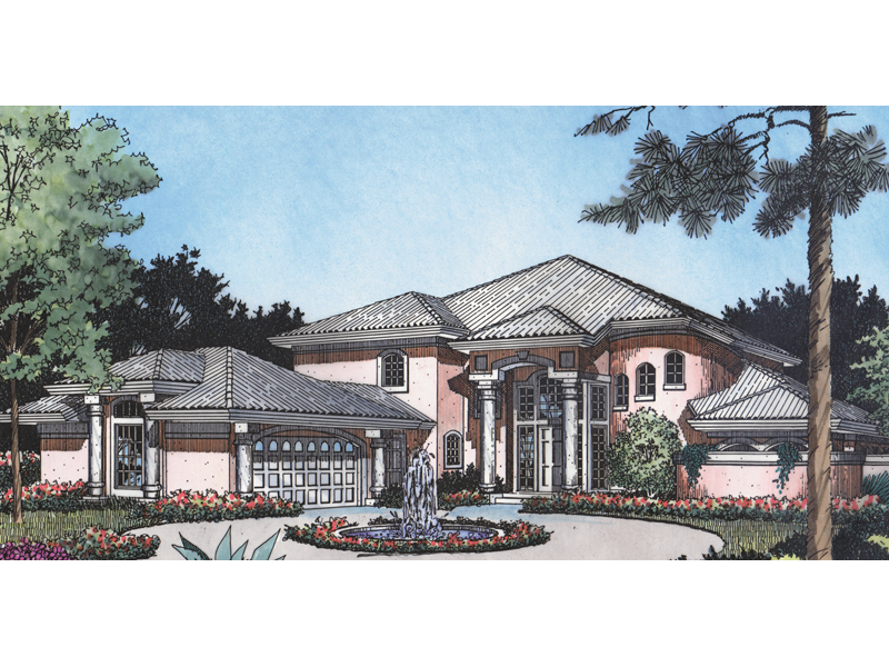 Expansive, Contemporary Sunbelt Design With Exquisite Entry