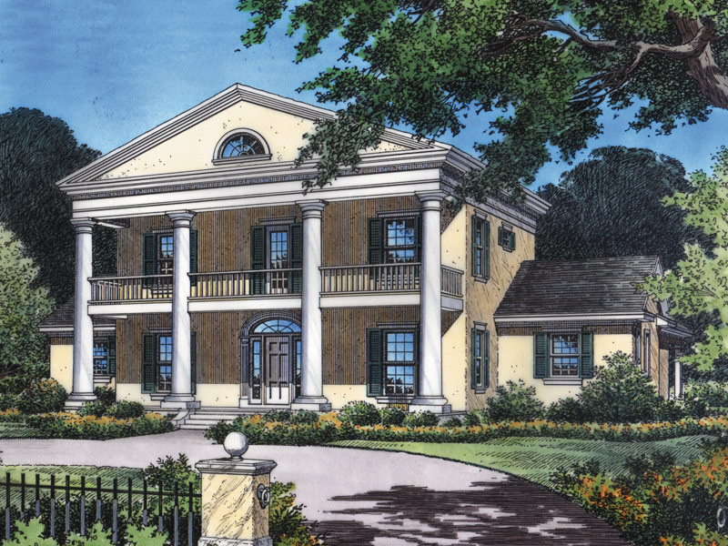 Colonial, Southern Plantation Design With Grand Appeal