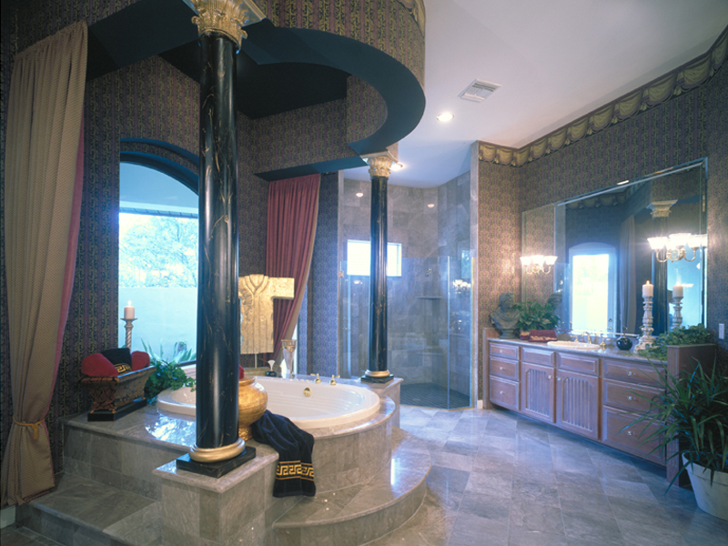Mediterranean House Plan Master Bathroom Photo 01 047D-0187