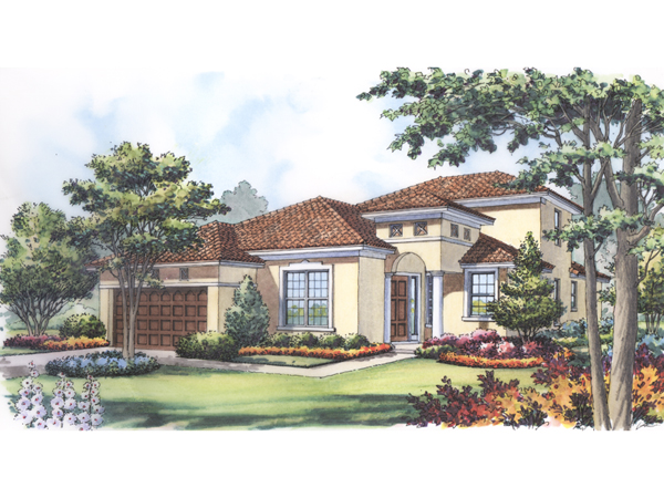 Marco Island Adobe Style Home Plan 047d 0189 House Plans
