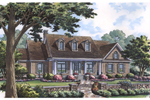 Traditional Country Style House With Covered Front Porch And Dormers