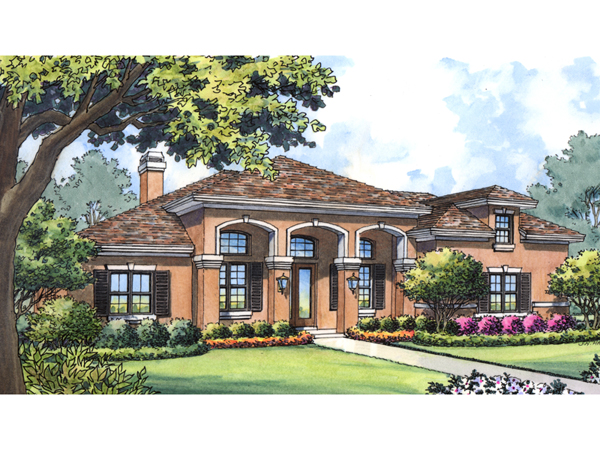 Boca grande spanish ranch home plan 047d 0193 house for Spanish style ranch house plans