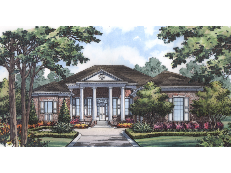 High Styled Southern Plantation Design