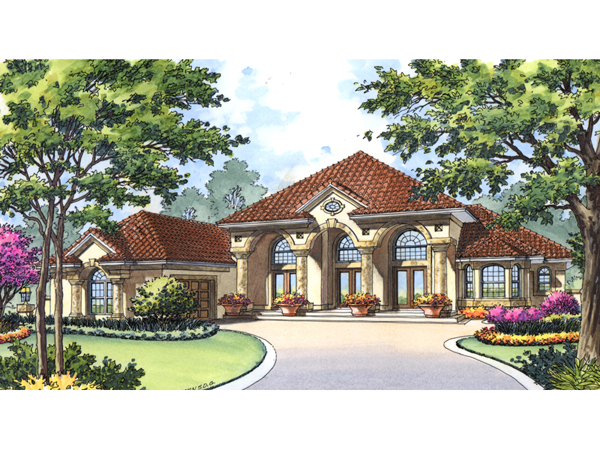 cape romano spanish style home plan 047d 0197 house