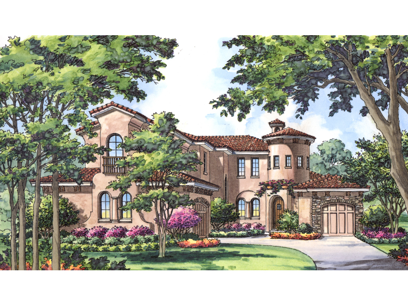 Luxurious Mediterranean Style Dominates This Sunbelt Design