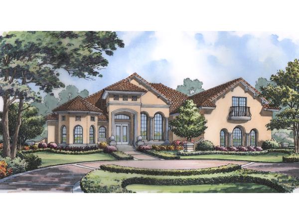 Tropical Gulf Southwestern Home Plan 047d 0200 House