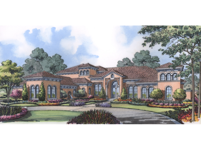 Southwestern House Plan Front of Home 047D-0203