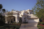 Mediterranean Style Stucco Home Designed For Privacy