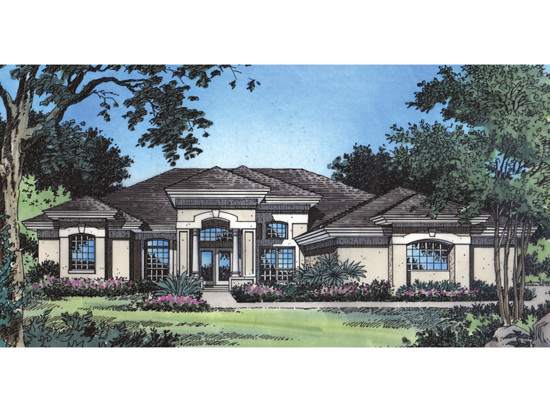 Buckhead southwestern home plan 047d 0206 house plans for Southwestern home plans