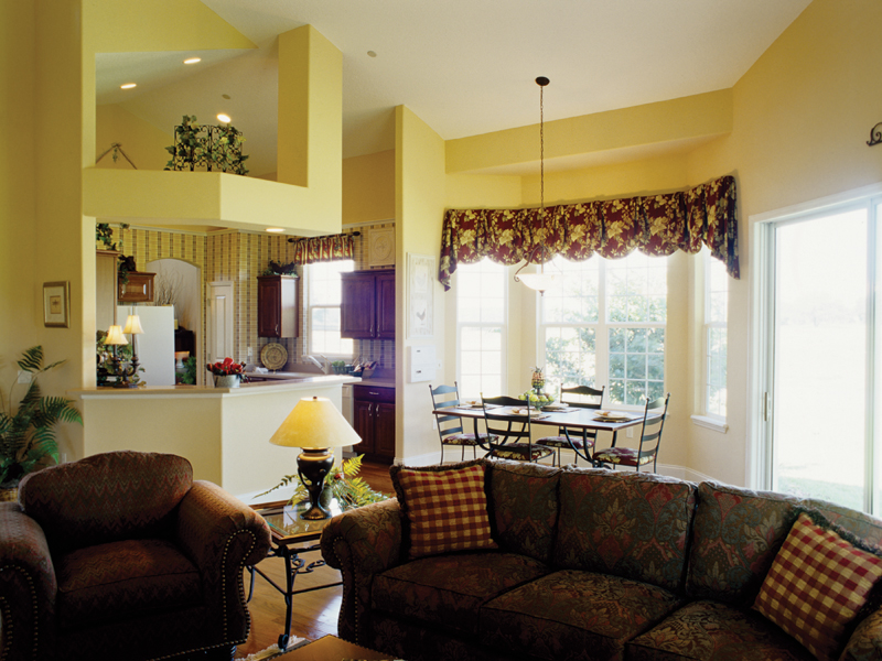 Country French Home Plan Living Room Photo 01 047D-0208