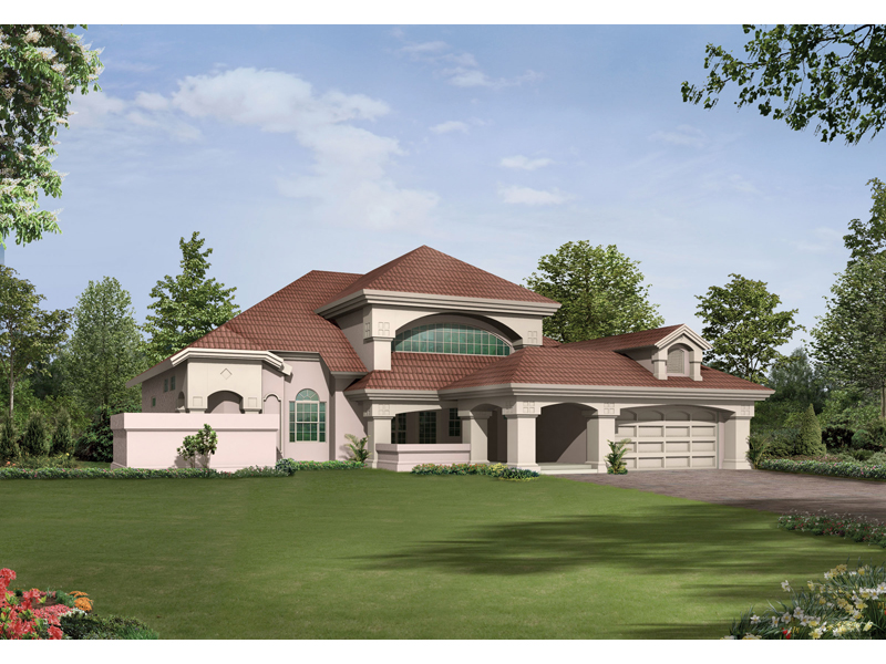 Luxury House Plan Front Image - 048D-0004 | House Plans and More