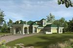 Luxury Stucco Home With Grand Porte-Cochere