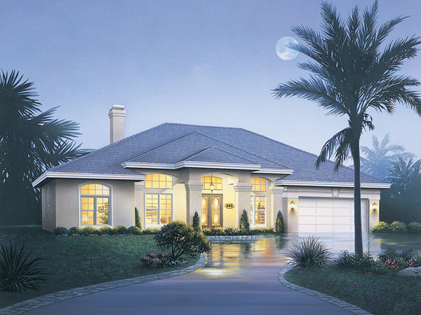 Rose way florida style home plan 048d 0008 house plans for Florida house designs