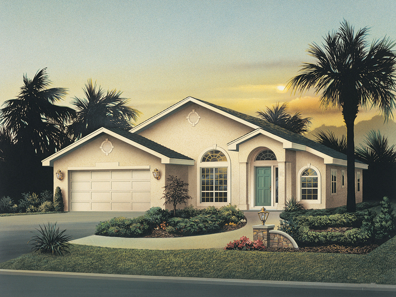 Florida House Plan Front of Home 048D-0011