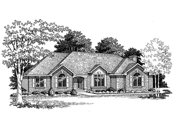 Heathrow traditional ranch home plan 051d 0003 house for Traditional ranch home plans
