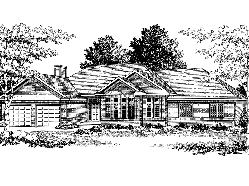 Traditional House Plan Front of Home - 051D-0012 | House Plans and More