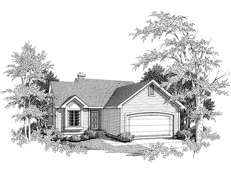 Traditional House Plan Front of Home - 051D-0031 | House Plans and More