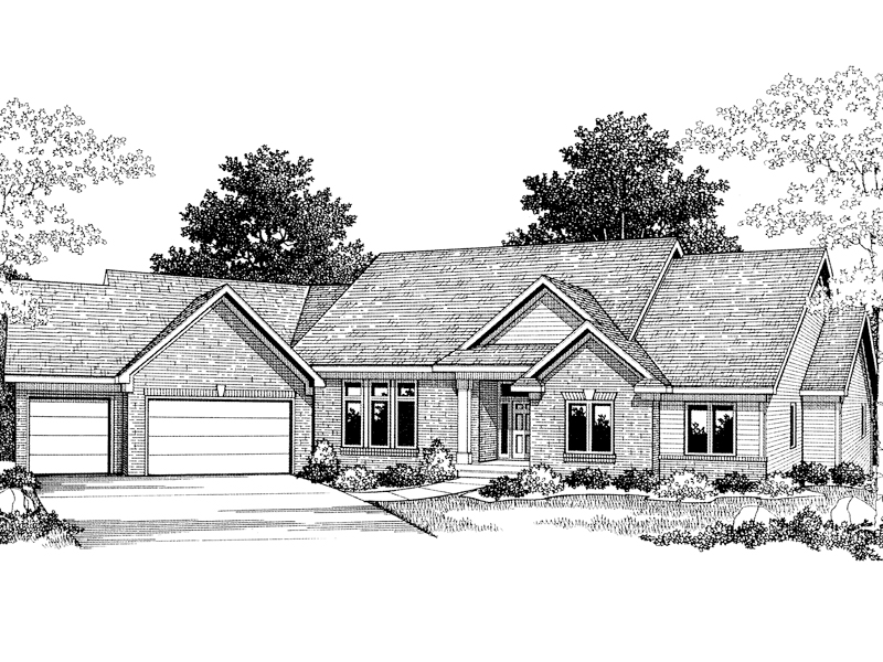 Horton Crossing Ranch Home Plan 051D-0032 | House Plans And More