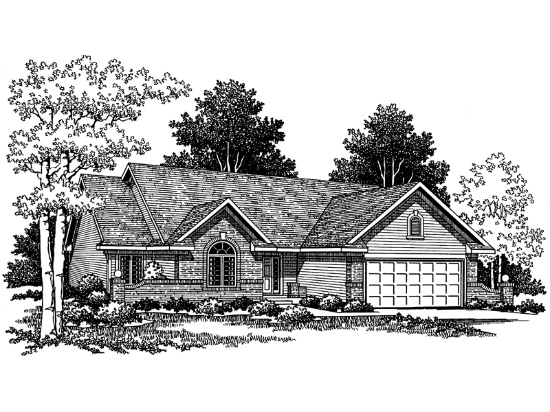 Lathrup traditional ranch home plan 051d 0050 house for Traditional ranch home plans