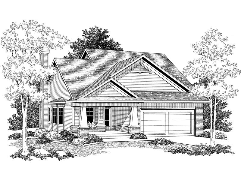 Traditional House Plan Front of Home - 051D-0051 | House Plans and More