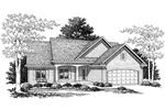 Ranch House With Bricked Front Entry And Attractive Gabled Roof