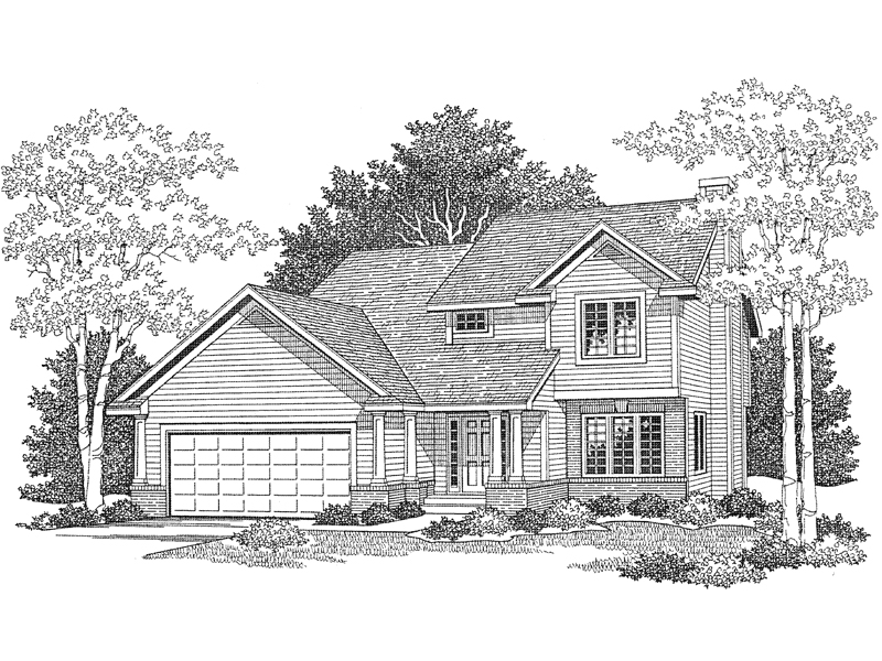 Two Story House Plan Is Ideal For A Narrow Lot