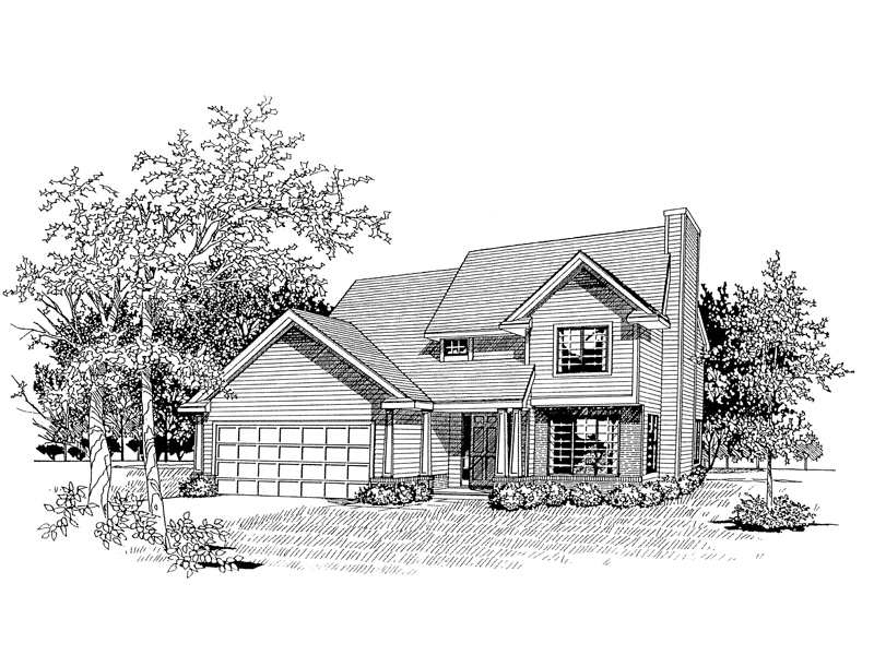 Two-Story Is Ideal For A Narrow Lot