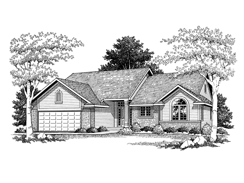 Bansbach traditional ranch home plan 051d 0083 house for Traditional ranch home plans