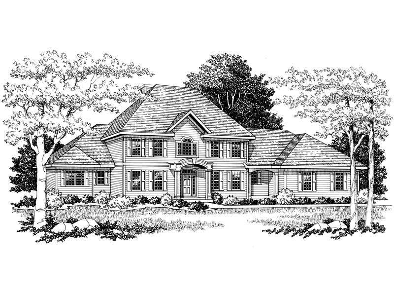 Georgian House Plan Front Image of House - 051D-0115 | House Plans and More
